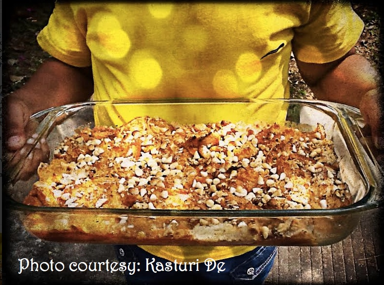 Caramel Bread Butter Pudding_kasturi