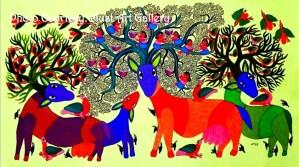 ACRYLIC ON CANVAS BY DURGA BAI VYAM