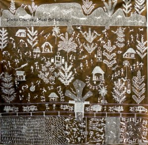 Warli Painting by Jivya Soma Mashe_Must Art Gallery