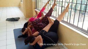 Anita Pandits Yoga Class2