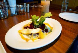 Quinoa Beet and Smoked Cheese Salad