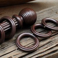 Stylish wooden curtain rods from Deco Window