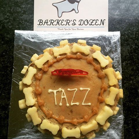 A healthy treat for Tazz from Barker's Dozen