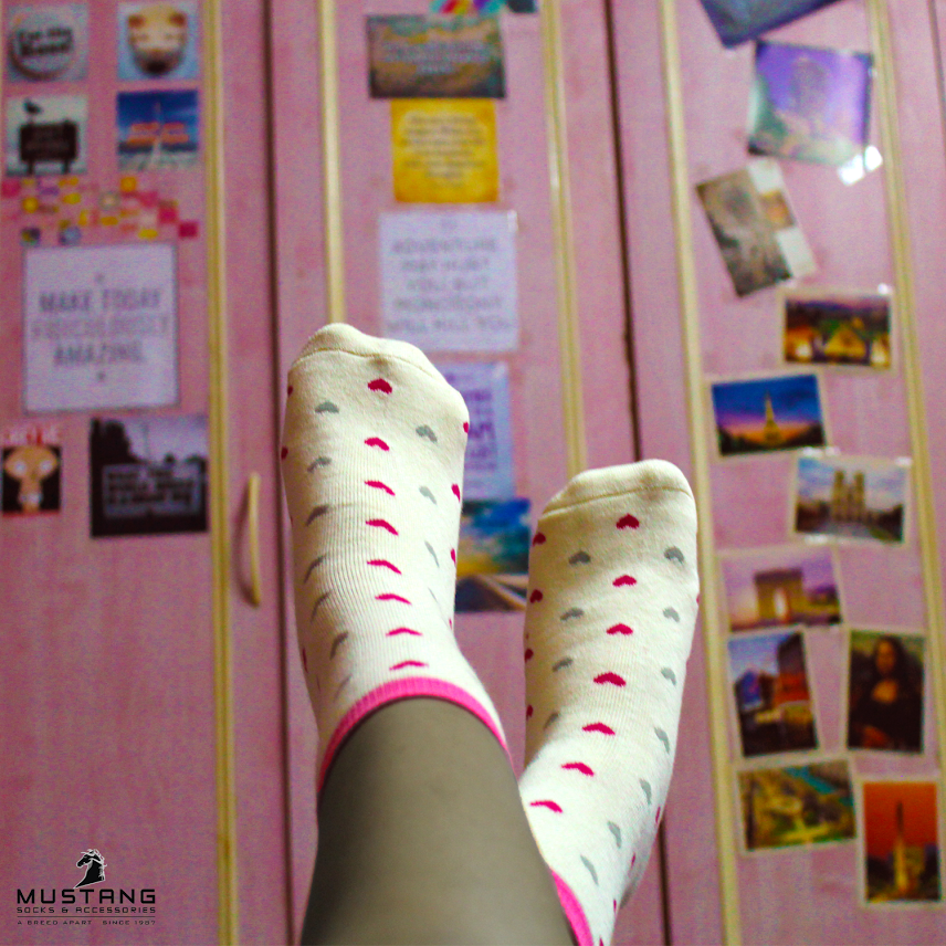 Socks and your everyday play friend. Photo courtesy - Mustang Socks