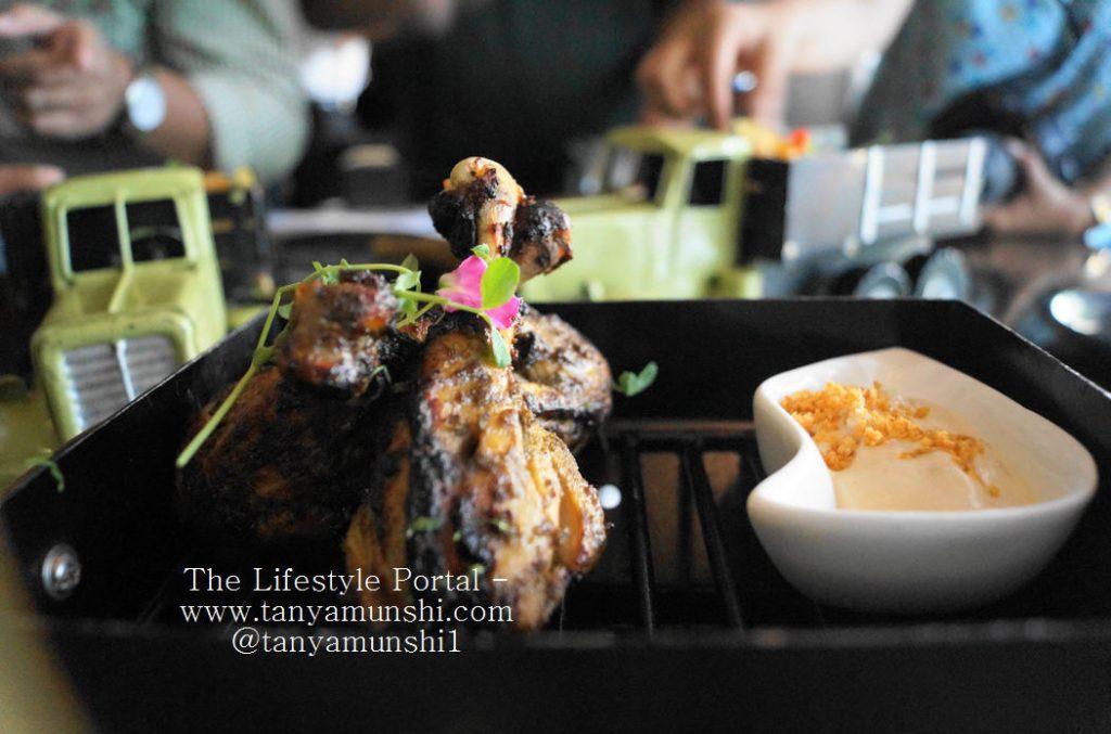 Bengal inspired Dak Bungalow Chicken Garlic Boursin