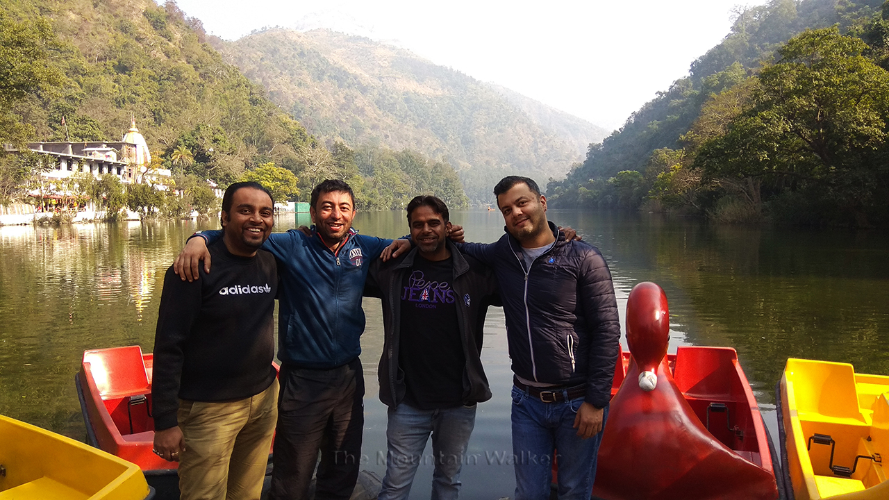 "Childhood friends together again - Right to Left of image - Dr. Abhishek ""Adbi"" Sharma, Anil ""Goldy"" Sharma, Abhishek Kaushal, Ameen Shaikh"