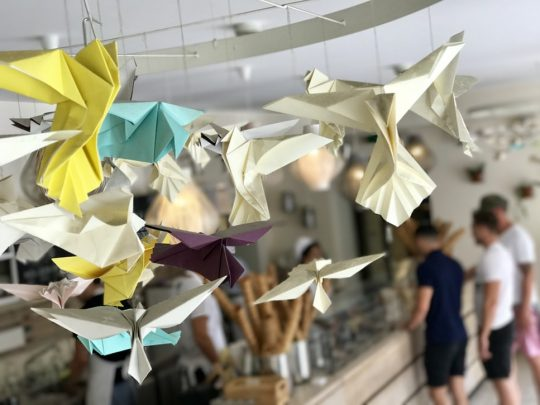 Reuse old left over papers to make handmade party decorations. Photo credit: Richard Kasperowski