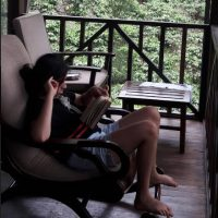 Taking a pause at the Meriyanda Nature Lodge, Coorg. Photo Credit- Poyani Mehta