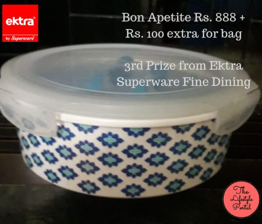 3rd Prize_Bon Apetite Rs. 888 + Rs. 100 extra for bag
