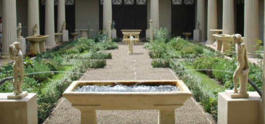 A remake of a courtyard from Ancient Greece.