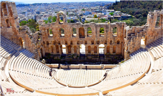 The ruins of  'The Odeon of Herodes Atticus', one of the most famous Greek theatres.