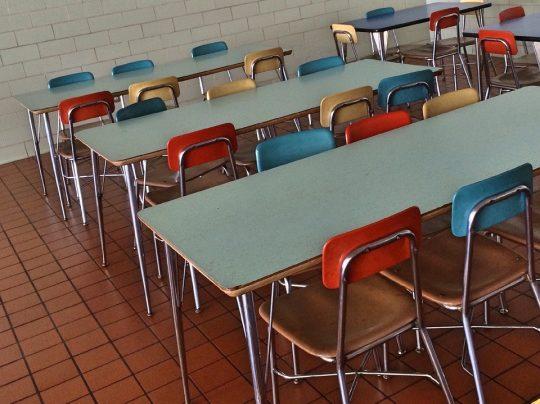 Empty school cafeteria. Photo credit: Wokandapix