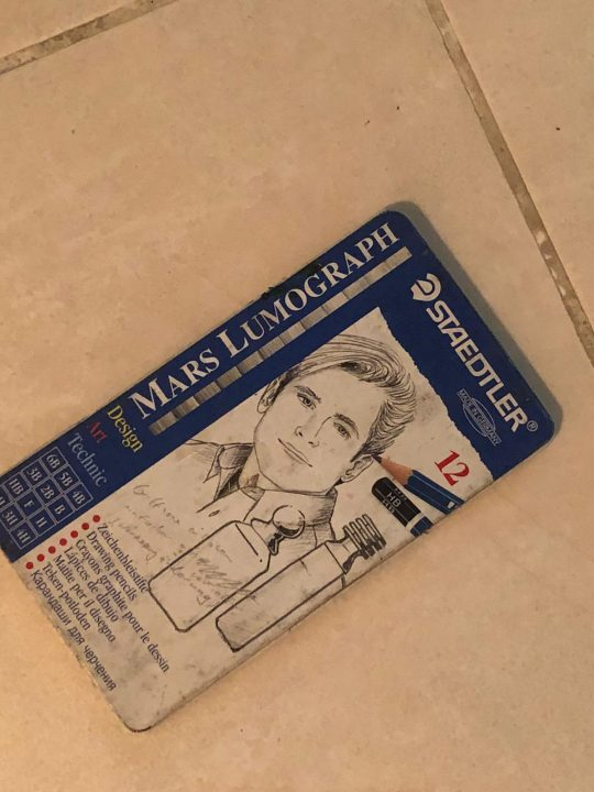 My first box of Staedtler sketching pencils. Photo Courtesy: Devyani Chauhan Bisht