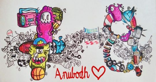 Anubhav's Doodle for Younger Brother's 8th Bday.