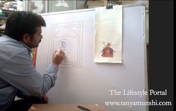 Learning from the master: Vijay Joshi - Phad & Miniature artist